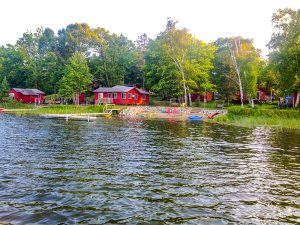 Beaver Lodge cabin at cedar point resort in Marcell MN from the lake.