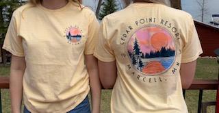 Cedar Point Resort Yellow tshirt