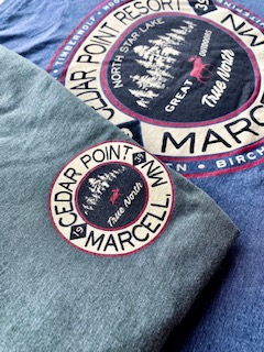 Two Cedar Point Resort shirts
