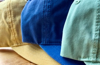 Side view of 3 hats